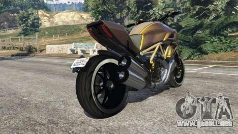 GTA 5 Ducati Diavel Carbon 11 v1.1 vista lateral derecha