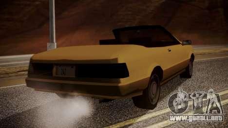 Cadrona Cabrio para GTA San Andreas left