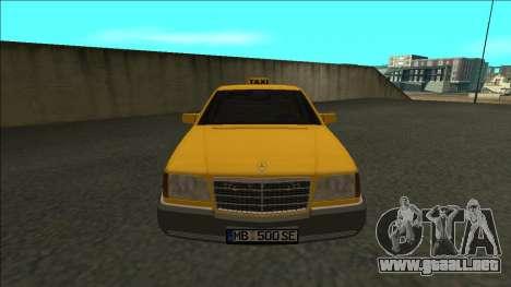 Mercedes-Benz W140 500SE Taxi 1992 para la visión correcta GTA San Andreas