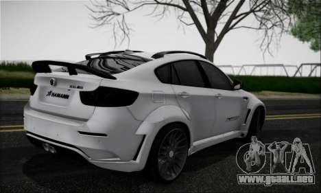 BMW X6M HAMANN Final para la visión correcta GTA San Andreas
