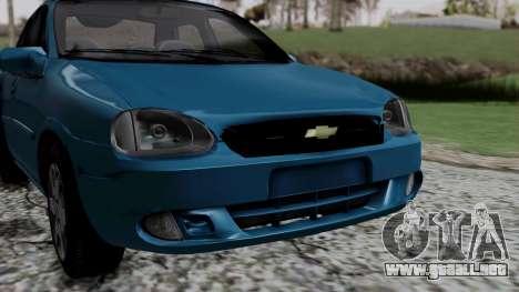 Chevrolet Corsa Classic 2009 v3 para visión interna GTA San Andreas