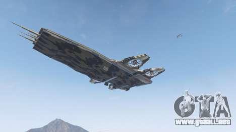 GTA 5 S.H.I.E.L.D. Helicarrier quinta captura de pantalla