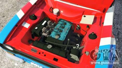 GTA 5 Ford Escort MK1 v1.1 [JE Pistons] vista lateral trasera derecha
