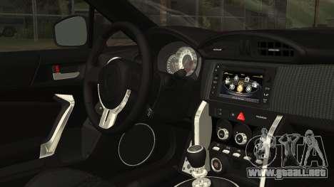 Toyota GT86 2012 LQ para la visión correcta GTA San Andreas