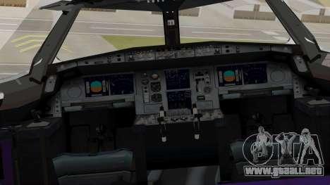 Airbus A380-800 British Overseas Airways Corp. para GTA San Andreas vista hacia atrás