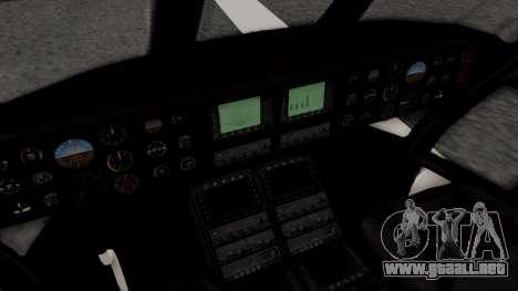 GTA 5 Cargobob para GTA San Andreas vista hacia atrás