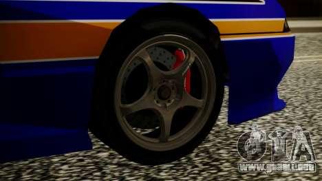 Elegy NR32 with Neon Exclusive PJ para GTA San Andreas vista posterior izquierda