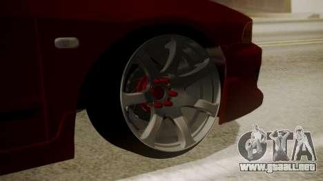Mitsubishi Galant VR6 Stance para GTA San Andreas vista posterior izquierda
