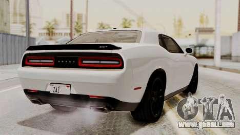 Dodge Challenger SRT Hellcat 2015 HQLM PJ para GTA San Andreas left
