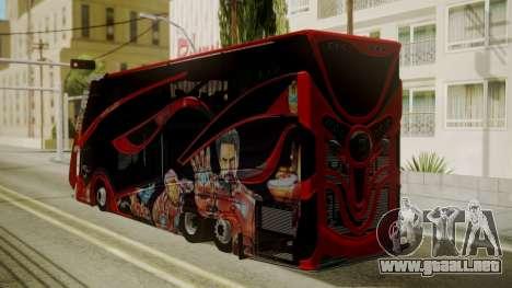 Bus Iron Man para GTA San Andreas left