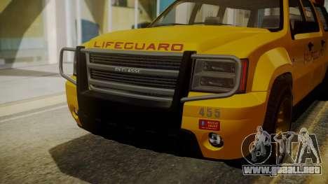 GTA 5 Declasse Granger Lifeguard IVF para visión interna GTA San Andreas
