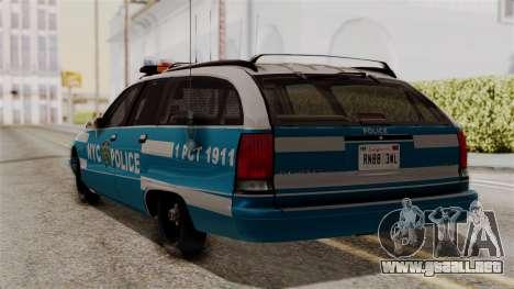 Chevy Caprice Station Wagon 1993-1996 NYPD para GTA San Andreas left