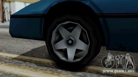 Banshee from Vice City Stories para GTA San Andreas vista posterior izquierda