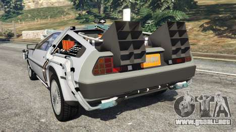 GTA 5 DeLorean DMC-12 Back To The Future v0.4 vista lateral izquierda trasera