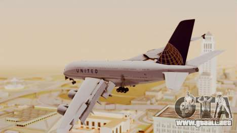 Airbus A380-800 United Airlines para GTA San Andreas left