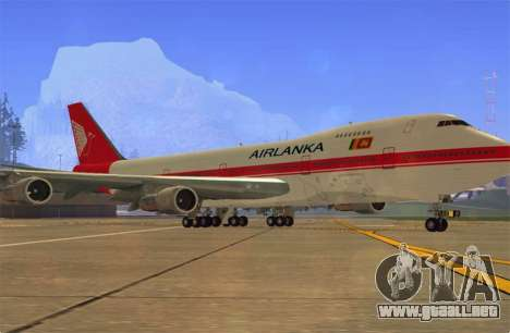 Boeing 747-200 Air Lanka para GTA San Andreas left