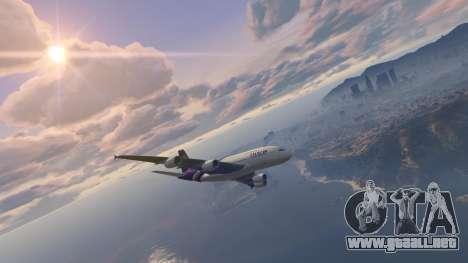 GTA 5 Airbus A380-800 v1.1 segunda captura de pantalla