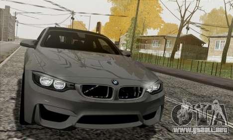 BMW M4 F82 para visión interna GTA San Andreas