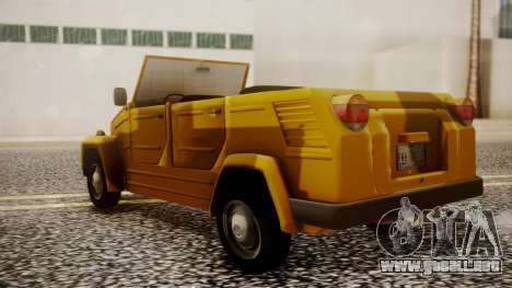 Volkswagen Safari Type 181 para GTA San Andreas left