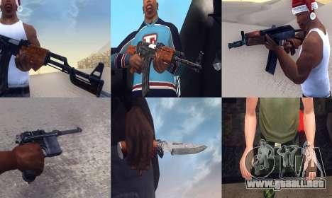 Realistic Weapons Pack para GTA San Andreas