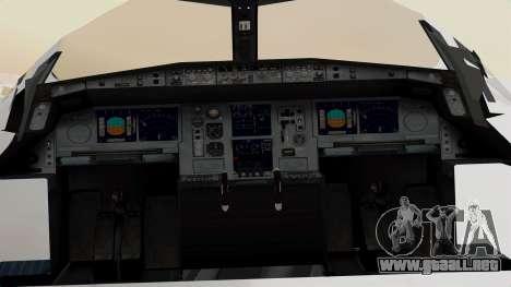 Airbus A380-800 United Airlines para GTA San Andreas vista hacia atrás