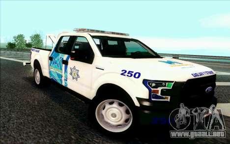 Ford F150 2015 Towtruck para GTA San Andreas left