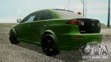 Mitsubishi Lancer Evolution X WBK para GTA San Andreas left