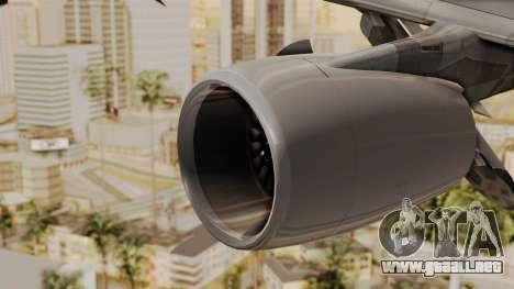 Airbus A380-800 United Airlines para la visión correcta GTA San Andreas