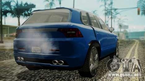 GTA 5 Obey Rocoto IVF para GTA San Andreas left