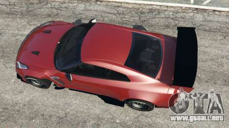 GTA 5 Nissan GT-R (R35) [RocketBunny] v1.1 vista trasera