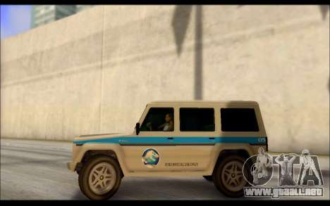 Benefactor Dubsta Jurassic World Paintjob para GTA San Andreas left