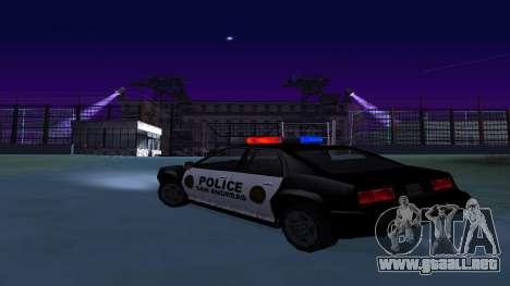 Cuatro de la policía de Buffalo para GTA San Andreas vista posterior izquierda