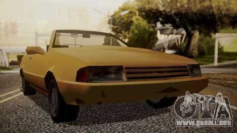 Cadrona Cabrio para GTA San Andreas vista posterior izquierda