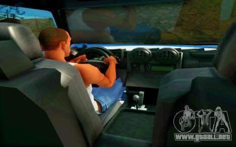 Hummer H6 para visión interna GTA San Andreas