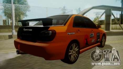 Subaru Impreza WRX GDA para GTA San Andreas interior