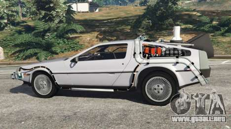 GTA 5 DeLorean DMC-12 Back To The Future v0.4 vista lateral izquierda