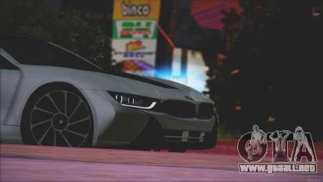 BMW i8 Coupe 2015 para vista inferior GTA San Andreas