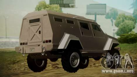 GTA 5 HVY Insurgent para GTA San Andreas left