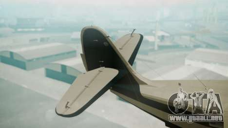 Grumman G-21 Goose Black and White para GTA San Andreas vista posterior izquierda