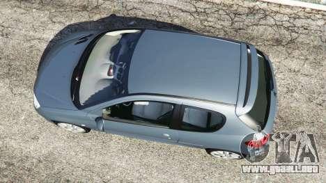 GTA 5 Peugeot 206 GTI vista trasera
