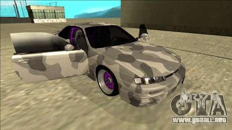 Nissan Silvia S14 Army Drift para vista lateral GTA San Andreas