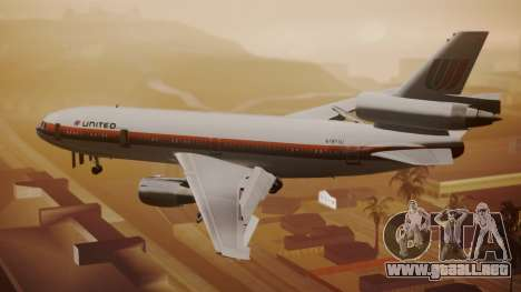 DC-10-10 United Airlines (80s Livery) para GTA San Andreas left