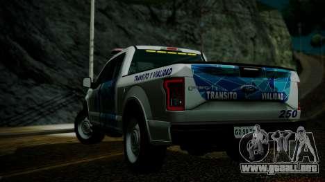 Ford F-150 2015 Transito Vial para GTA San Andreas left