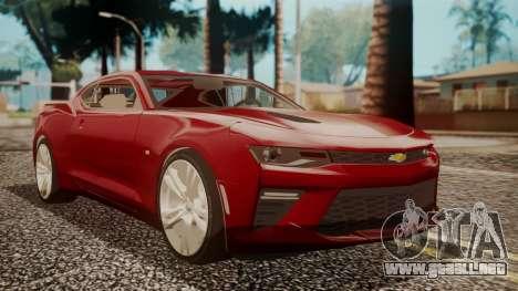 Chevrolet Camaro SS 2016 para GTA San Andreas