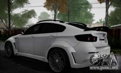 BMW X6M HAMANN Final para GTA San Andreas vista posterior izquierda
