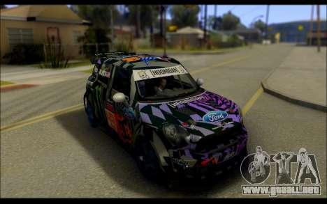 Mini Cooper Gymkhana 6 with Drift Handling para GTA San Andreas vista posterior izquierda