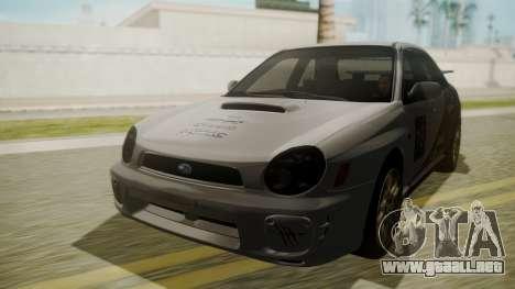 Subaru Impreza WRX GDA para visión interna GTA San Andreas