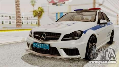Mercedes-Benz C63 AMG STSI el Ministerio de Asun para GTA San Andreas