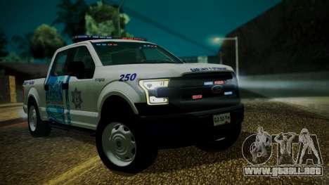 Ford F-150 2015 Transito Vial para GTA San Andreas