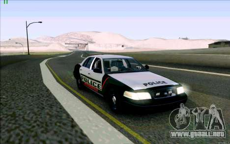 Weathersfield Police Crown Victoria para GTA San Andreas left